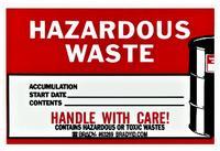 Waste Disposal Drum Label