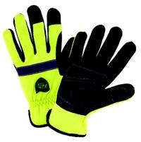 Small/7 Hi-Vis Slip On Gloves with Waterproof and Positherm Lining