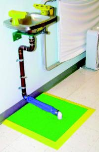 Mat-In-A-Box 2' x 2' Shower and Eyewash Station Mats
