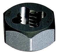 Style 0650  1/2-20 Carbon Steel Hexagon Rethreading Dies
