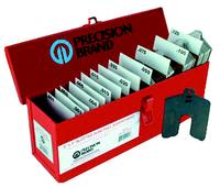 2IN x2IN = 5/8IN  Stainless Steel Slotted Shim Assortments
