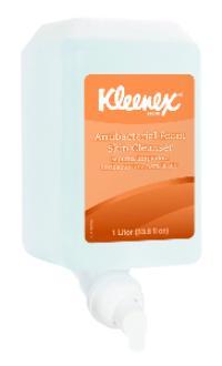 Kleenex® 1Liter Antibacterial Foam Skin Cleanser Hand Soap Refills