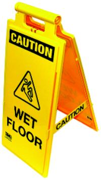 WET FLOOR, WALK RIGHT/LEFT Safety Floor Sign