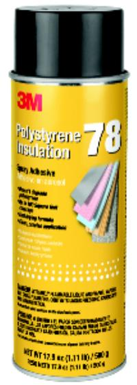 Clear 3M™ Polystyrene Insulation 78 Spray Adhesive