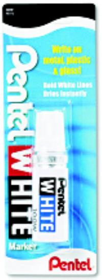 Pentel White Broad Tip White Permanent Marker
