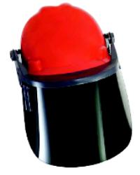 Shade 5 Green Propionate Hard Hat Visor