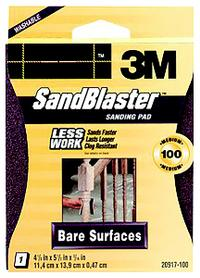 5.3IN x6.2IN x6.8IN  3M™ Bare Surfaces Sanding Sponges, 20917-100