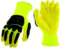 XSmall/6 Hi-Vis Yellow Shell with Foam Nitrile Palm Coating