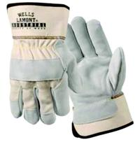 Medium/8 Leather Palm Work Gloves
