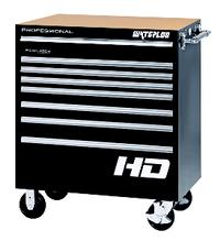 Professional HD Series Black 8-Drawer Roller Cabinet