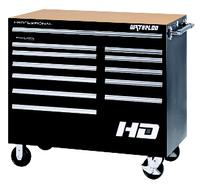 Professional HD Series Black 12-Drawer Roller Cabinet