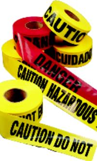 Danger Do Not Enter Barricade Tapes
