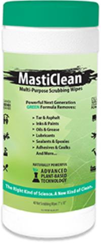 Masticlean 40 count Mean Green Cleaning Wipes