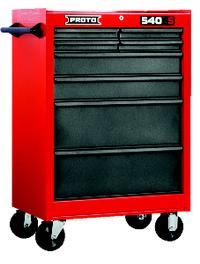 Red/Gray 8-Drawer Roller Cabinet