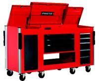 Red/Gray 3-Drawer Modular Utility Cart