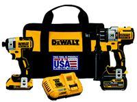 FLEXVOLT 20V Hammer Drill & Impact Driver Kit