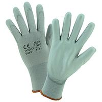 Medium/8 Gray Nylon Gloves