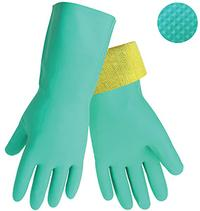 Large/9 Cut Resistant Nitrile Chemical Handling Gloves