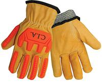 Small/7 Premium Cow Grain Cut Resistant & Impact Resistant Gloves
