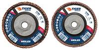 """4 1/2""""x 5/8x11 Nut Tiger® Angled Flap Discs"""