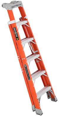 Cross Step Series 4' Fiberglass Cross Step Ladders