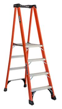 Pinnacle Series 4' Fiberglass Platform Ladders