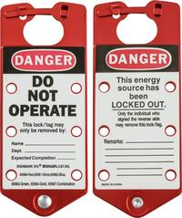 Red Labeled Group Lockout Hasps