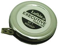 Executive® Polished Chrome Case 6mmx2m Diameter Measuring Tapes