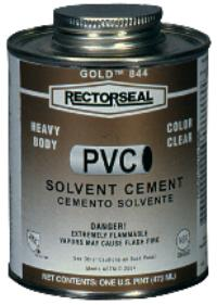 RectorSeal® Gold ™ 844 1 qt. PVC Cements